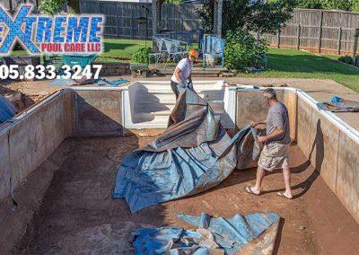 Swimming Pool Liner Replacement and Wall Repair - Oklahoma City, Oklahoma