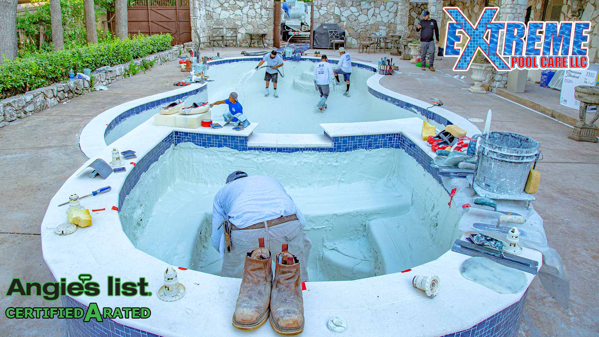 Extreme Pool Care LLC Remodeling Project in Oklahoma City